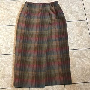 Vintage plaid Maxi skirt